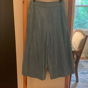 Made well chambray wide leg pull on pants